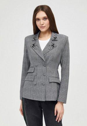 Пиджак DSHE. Цвет: серый