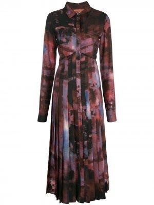 Платье Vivian Altuzarra. Цвет: красный