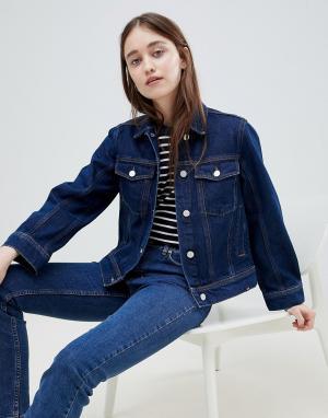 Джинсовая куртка Alia-Синий Wood