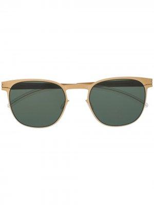Солнцезащитные очки Easton в круглой оправе Mykita. Цвет: золотистый