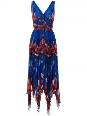 Платье Annabella с плиссировкой Altuzarra. Цвет: синий