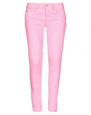 Джинсовые брюки MAISON CLOCHARD. Цвет: розовый