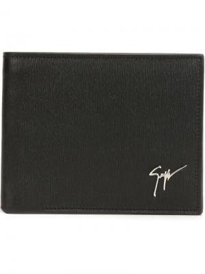 Классический бумажник Giuseppe Zanotti Design. Цвет: чёрный