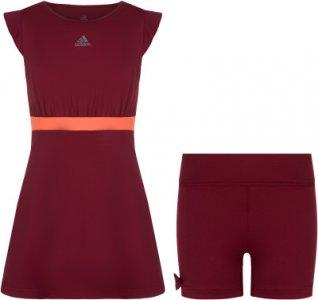 Платье для девочек adidas Ribbon, размер 152. Цвет: красный