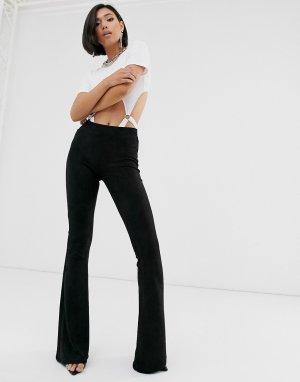 Бархатные расклешенные брюки Blank NYC-Черный NYC