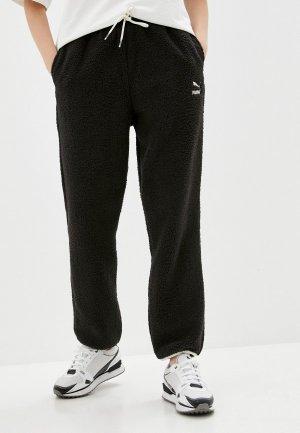 Брюки спортивные PUMA CLSX Sherpa Pants. Цвет: черный