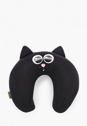 Подушка Gekoko для самолета. Цвет: черный