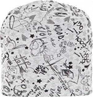 Шапка для девочек , размер 52 Demix. Цвет: серый