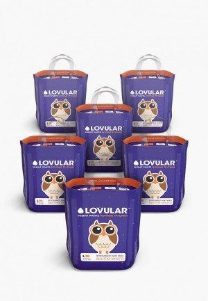 Подгузники-трусики Lovular L 9-14 кг, 114шт (6*19шт/уп). Цвет: фиолетовый