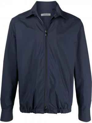 Куртка-рубашка на молнии Corneliani. Цвет: синий