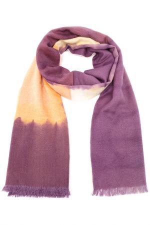 Палантин F.FRANTELLI. Цвет: персиковый, фиолетовый
