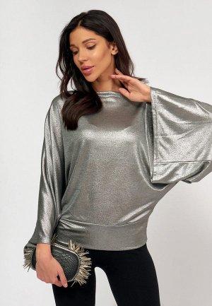 Блуза Lussotico. Цвет: серебряный