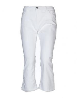 Джинсовые брюки-капри CURRENT/ELLIOTT. Цвет: белый
