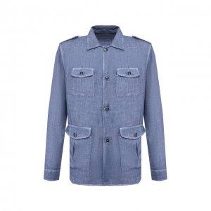 Льняной пиджак Gran Sasso. Цвет: синий