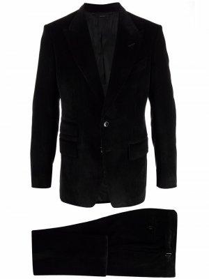 Вельветовый пиджак TOM FORD. Цвет: черный
