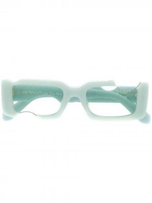 Солнцезащитные очки Holes в прямоугольной оправе Off-White. Цвет: зеленый