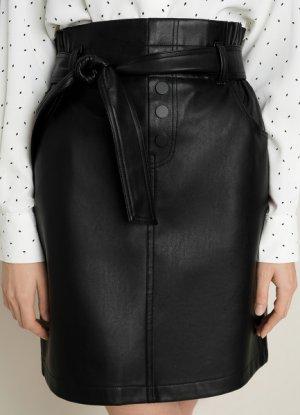 Мини-юбка с поясом O`Stin. Цвет: черный