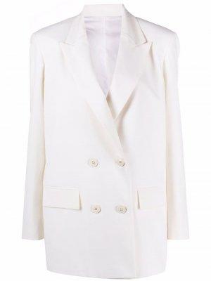 Двубортный пиджак Valentino. Цвет: белый