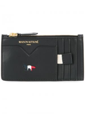 Кошелек на молнии Maison Kitsuné. Цвет: чёрный