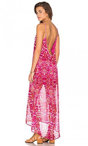 Макси платье turlington Show Me Your Mumu. Цвет: розовый