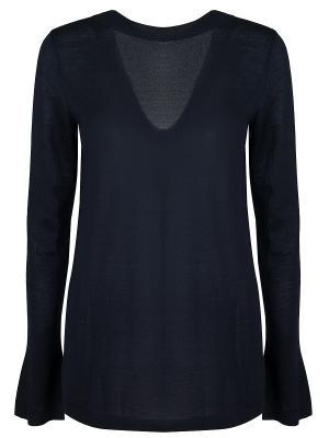 Кашемировый пуловер MARNI. Цвет: синий