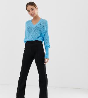 Расклешенные брюки со строчками -Черный Y.A.S Petite
