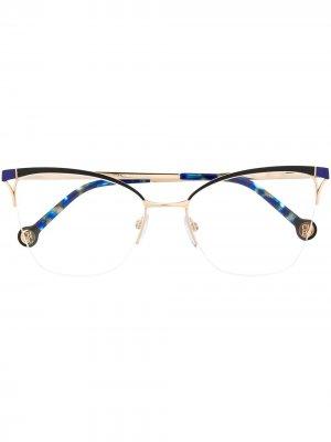 Half-rim butterfly-frame glasses Carolina Herrera. Цвет: черный
