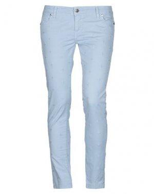 Повседневные брюки H2O ITALIA. Цвет: небесно-голубой