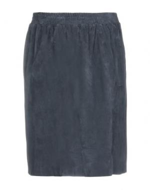 Юбка до колена ENES. Цвет: темно-синий
