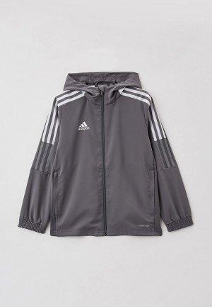 Ветровка adidas. Цвет: серый