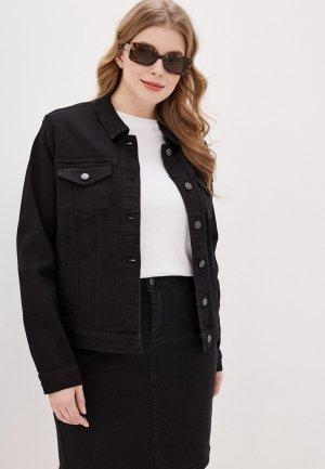 Куртка джинсовая Vero Moda Curve. Цвет: черный
