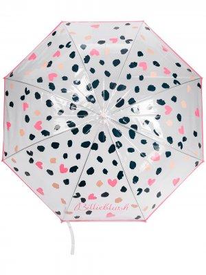 Зонт в горох Billieblush. Цвет: розовый
