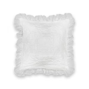 Чехол на подушку или наволочка JARA LA REDOUTE INTERIEURS. Цвет: белый