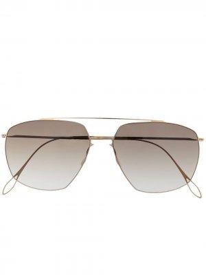 Солнцезащитные очки-авиаторы Noah Haffmans & Neumeister. Цвет: золотистый