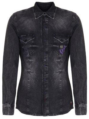 Рубашка Slim Fit джинсовая PHILIPP PLEIN