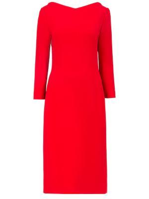 Шерстяное платье Antonio Berardi. Цвет: красный