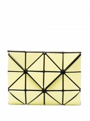 Бумажник с геометричными вставками Issey Miyake. Цвет: желтый