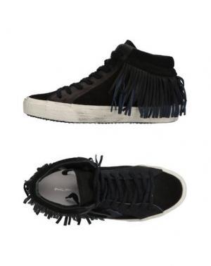 Высокие кеды и кроссовки PHILIPPE MODEL. Цвет: черный
