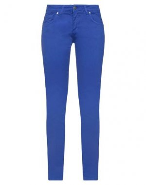 Джинсовые брюки FORNARINA. Цвет: ярко-синий