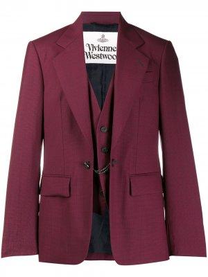 Классический блейзер Vivienne Westwood. Цвет: красный