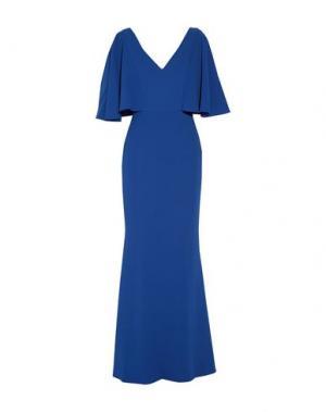Длинное платье BADGLEY MISCHKA. Цвет: ярко-синий