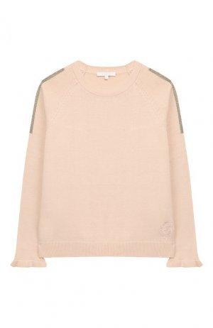 Пуловер из смеси шерсти и кашемира Chloé. Цвет: розовый
