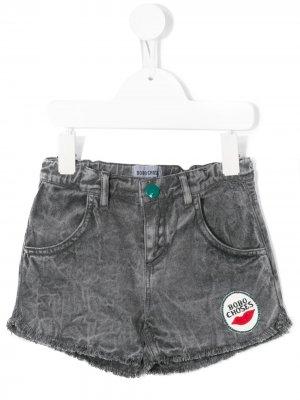 Джинсовые шорты с нашивкой-логотипом Bobo Choses. Цвет: серый