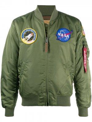 Бомбер MA-1 VF NASA Alpha Industries. Цвет: зеленый