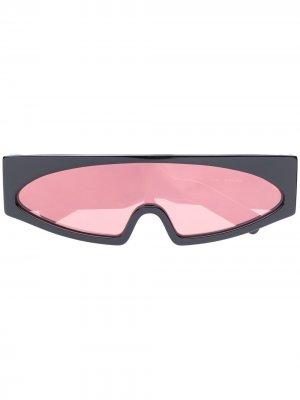 Солнцезащитные очки в массивной оправе Rick Owens. Цвет: черный
