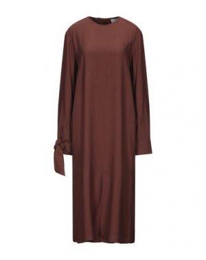 Платье длиной 3/4 ALYSI. Цвет: коричневый
