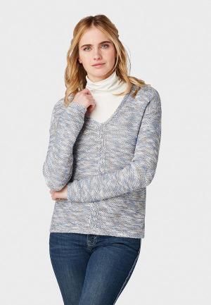 Пуловер Tom Tailor. Цвет: серый
