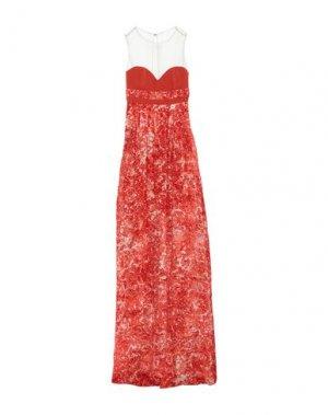 Длинное платье MANGANO. Цвет: оранжевый