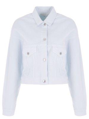 Укороченная джинсовая куртка Alexander Terekhov. Цвет: голубой