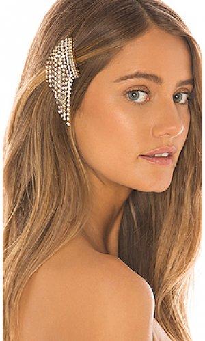 Гребень для волос bowers Elizabeth Cole. Цвет: металлический золотой
